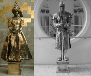 Human statues Kings and Queens