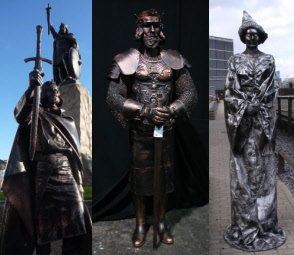 Medieval human statues